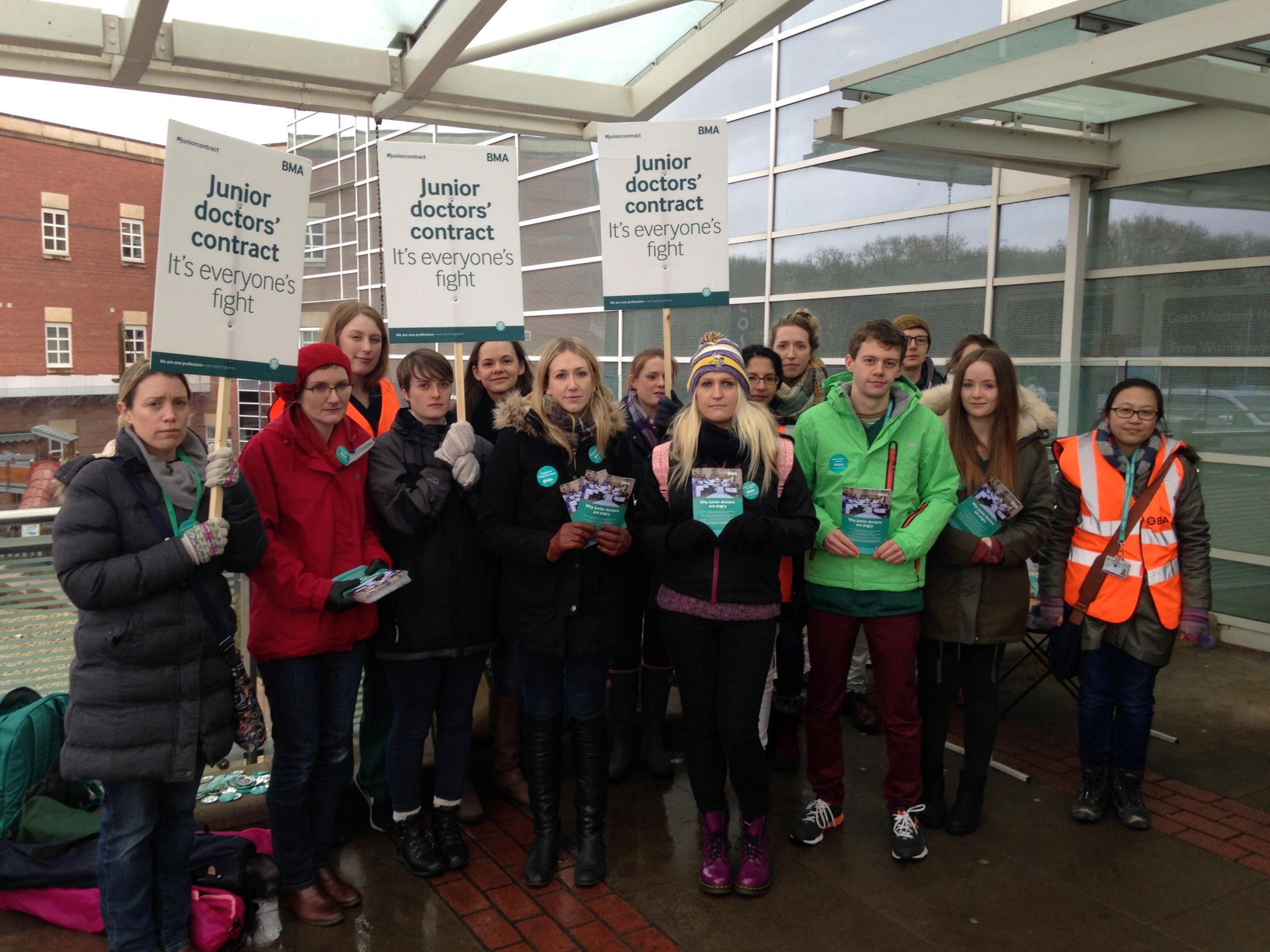 Junior doctors begin 48-hour strike at Torbay Hospital